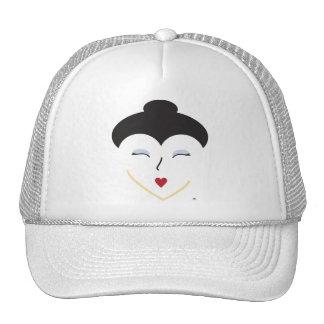 Gorra valiente del geisha de la cara