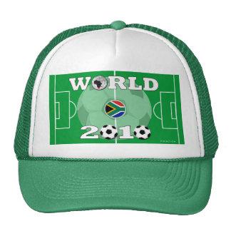 Gorra verde 2010 del campo de fútbol del mundial