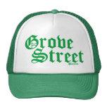 Gorra verde afortunado del camionero de la calle