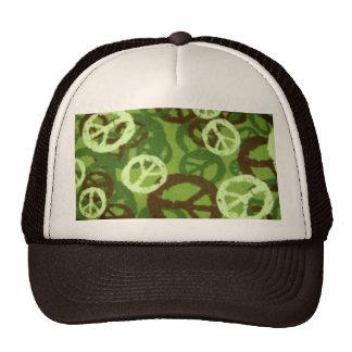 Gorra verde de Camo/de los signos de la paz