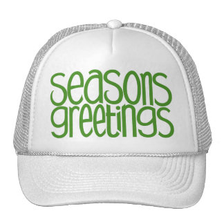 Gorra verde de los saludos de las estaciones