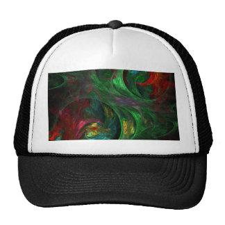 Gorra verde del arte abstracto de la génesis