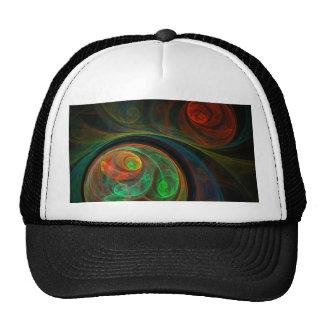 Gorra verde del arte abstracto del renacimiento