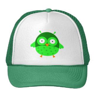 Gorra verde del búho