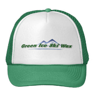 Gorra verde del camionero de la cera de esquí del