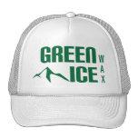 Gorra verde del camionero de la cera del hielo