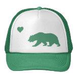 Gorra verde del camionero del amor de California