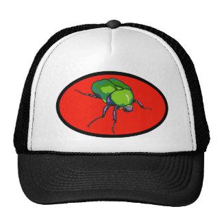 Gorra verde del camionero del escarabajo
