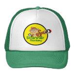 Gorra verde del camionero del mono del escáner