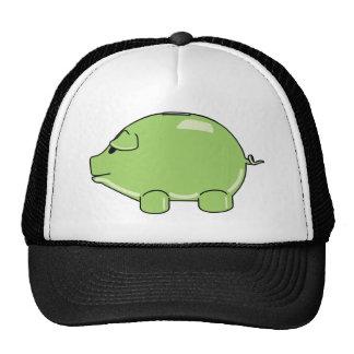 Gorra verde del cerdo
