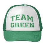 Gorra verde del equipo