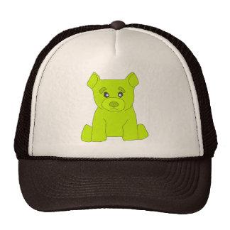 Gorra verde del oso
