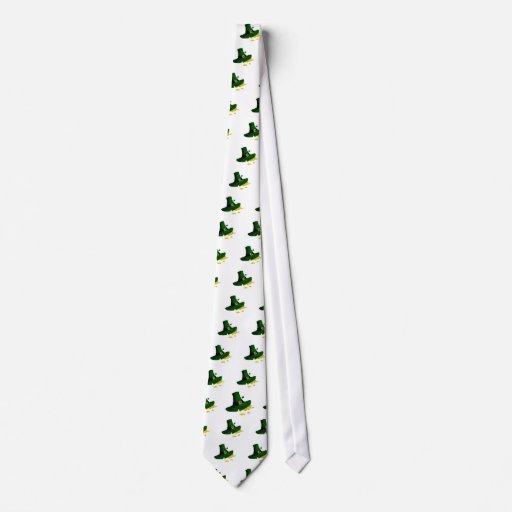 Gorra verde irlandés con oro corbatas personalizadas