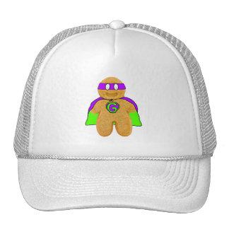 gorra verde/púrpura del superhéroe del hombre de p