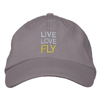 Gorra vivo de la mosca del amor gorra bordada