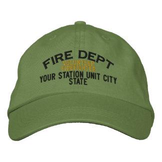 Gorra voluntario del bombero de Personalizable Gorra Bordada