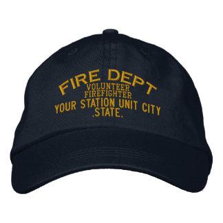 Gorra voluntario del bombero de Personalizable Gorra De Béisbol Bordada