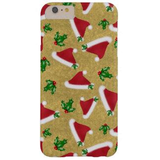 Gorra y acebo de Santa Funda Para iPhone 6 Plus Barely There