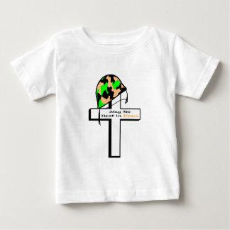 Gorra y cruz del soldado playera para bebé