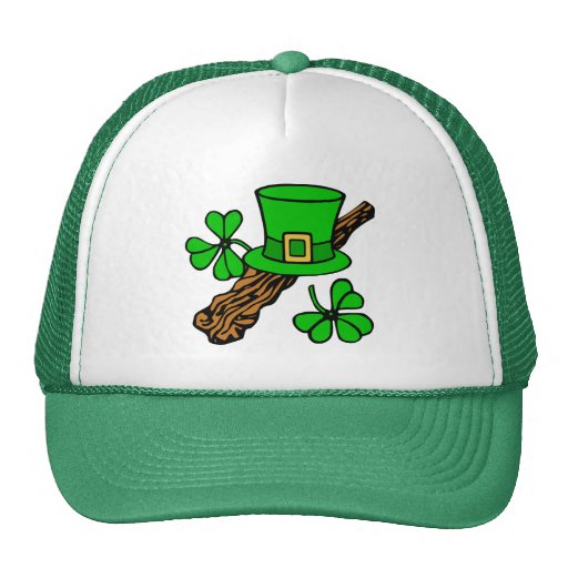 Gorra y el gorra verde de St Patrick de los trébol
