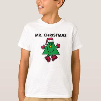 Gorra y guantes festivos de Sr. Christmas el | Playera