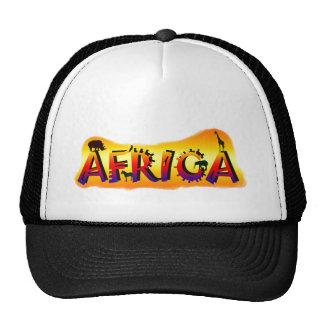Gorras africanos del safari de la fauna del diseño