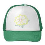 Gorras amarillos del dibujo de la flor del Coreops