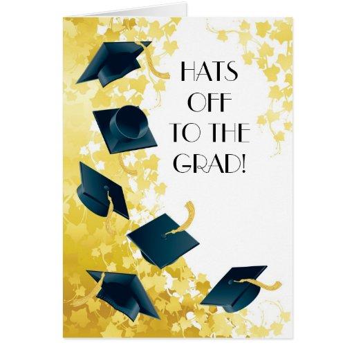 ¡Gorras apagado al graduado! Felicitacion