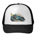 Gorras azules del coche de carreras de Indy