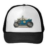 Gorras azules del coche del coche de carreras