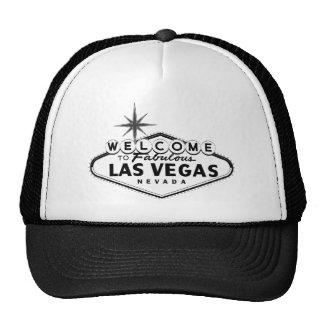 Gorras blancos y negros de la muestra de Las Vegas
