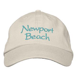 Gorras bordados de California. Playa de Newport Gorra De Beisbol Bordada