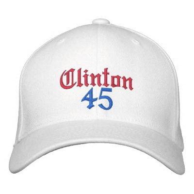 Gorras bordados de Clinton 45 Gorras Bordadas