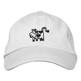 Gorras bordados de la vaca gorro bordado