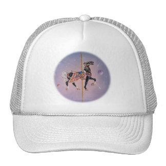 Gorras, casquillos - caballo 2 del carrusel de gorros bordados