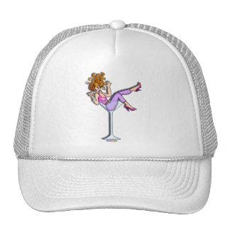 Gorras, casquillos - chica en un vidrio de Martini Gorras De Camionero
