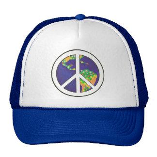Gorras coloridos del signo de la paz del mundo