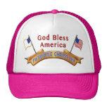 Gorras de la bandera americana para las mujeres