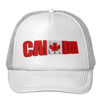 Gorras de la bandera del arce de Canadá