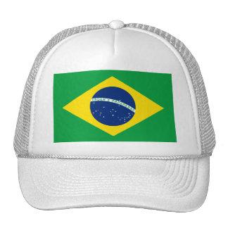 Gorras de la bandera del Brasil