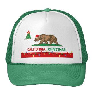 Gorras de la bandera del navidad de California