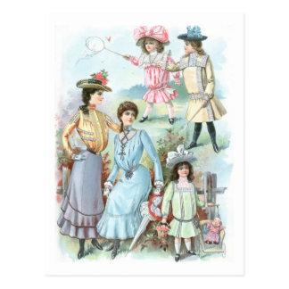gorras de la moda de los 1900s postal