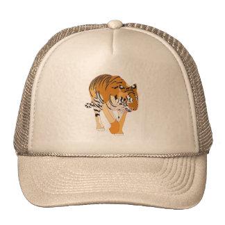 Gorras de la pintura de Digitaces del tigre que