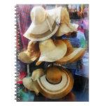 Gorras de paja libro de apuntes con espiral