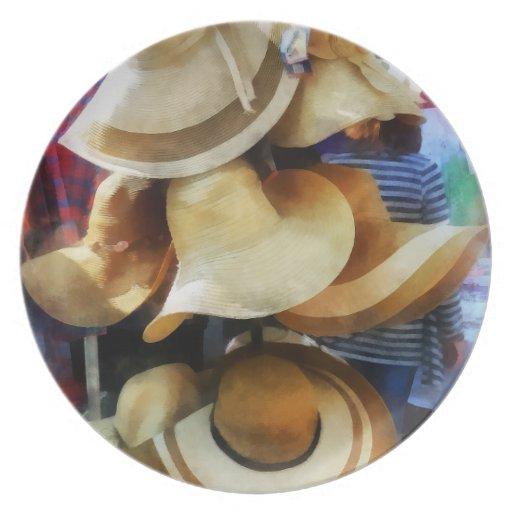 Gorras de paja plato para fiesta
