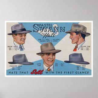 ¡Gorras de Swann! Impresiones