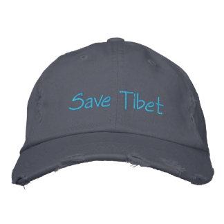 Gorras de Tíbet: Casquillo apenado de la tela Gorro Bordado