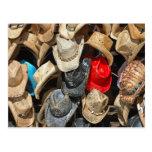 Gorras de vaquero tarjeta postal