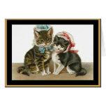 Gorras de Withs de los gatos de la tarjeta del vin