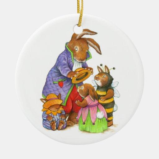 Gorras del conejito adorno de navidad